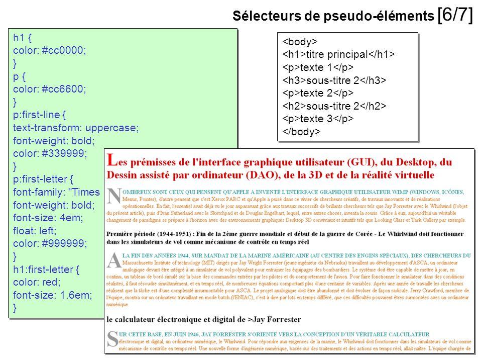 Sélecteurs de pseudo-éléments [6/7]